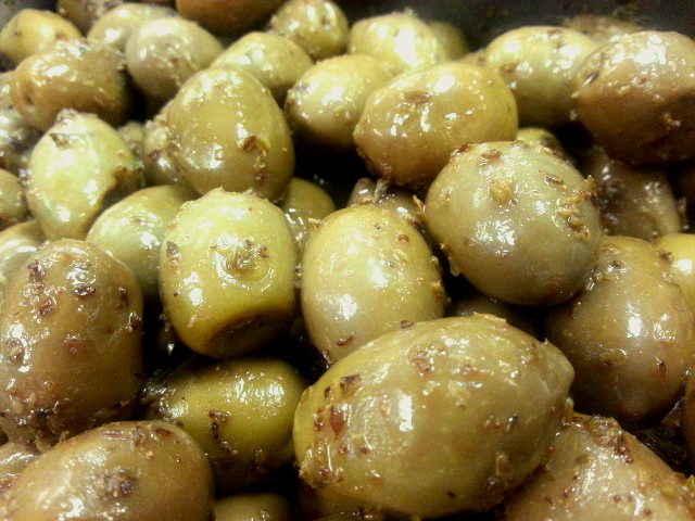 Greek Green Olives with Oregano