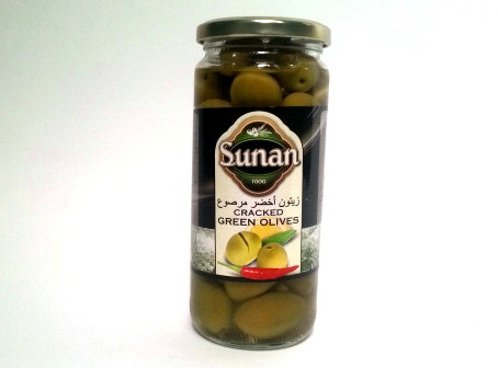 Green Cracked Olives Sunan