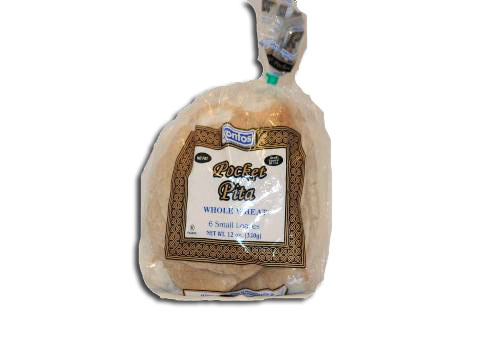 Pocket Pita Bread Whole Wheat KONTOS 12 bags/6 ...