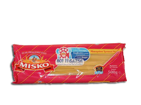 Pasta Thin Long Tube #5 Misko 500g
